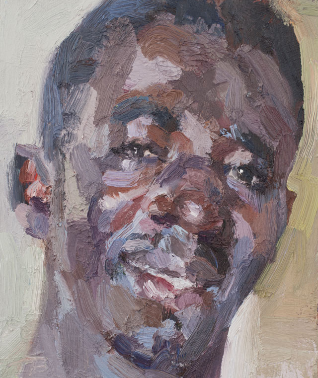 Tim Benson. Alfred, security officer, Isolation Unit, Connaught Hospital, Ebola survivor, 2016. Oil on board, 30.5 x 25.4 cm (12 x 10 in). © Tim Benson.