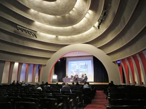 Auditorium designed by Joseph Urban in 1931 for the New School for Social Research.