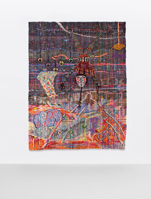 Kata Unger. Battlefield Shaping, 2013. Wool on wool, 267 x 197 cm. Photograph: Joseph Kadow and Timothy Schaumburg. Courtesy of the artist.