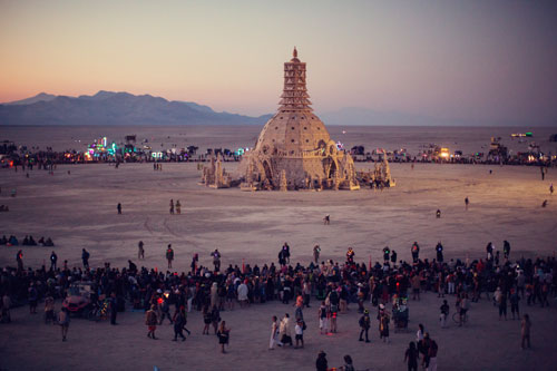 David Best. Temple of Grace, 2014. Burning Man, Black Rock Desert, Nevada, USA. Photograph: Zipporah Lomax.