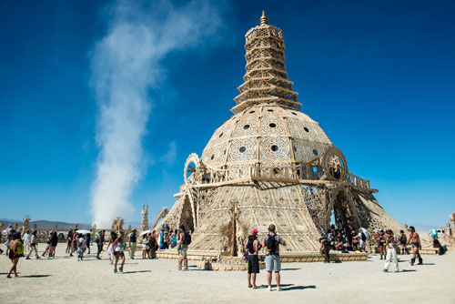 David Best. Temple of Grace, 2014. Burning Man, Black Rock Desert, Nevada, USA. Photograph: Luke Szczepanski.