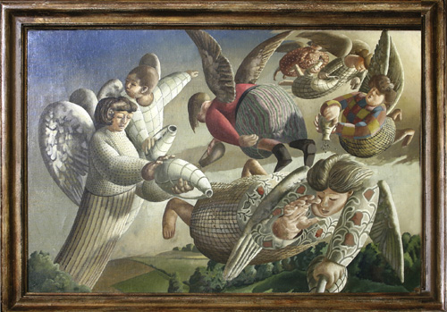Stanley Spencer. <em>Angels of the Apocalypse</em>, 1949. Courtesy of the Fieldstead and Company Foundation
