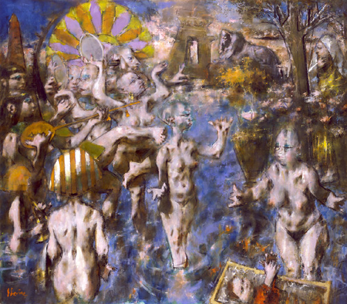 Jack Levine. <em>The Finding of Moses</em>, 1993. Courtesy of the Bridget Moore Gallery, New York