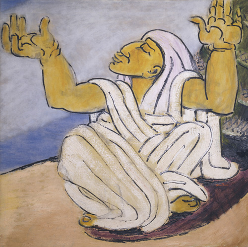Ben-Zion. <em>Deborah the Prophetess</em>, 1970. Oil on Canvas, Collection of Lillian Ben-Zion, NYC