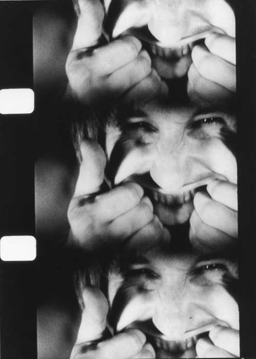 Bruce Nauman, <i>Pulling Mouth</i>, 1969. 16 mm black and white cinematographic 
