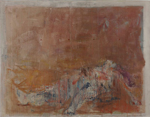 Cesare Lucchini. Those who remain - the fall, 2013. Oil on canvas, 180 x 243 cm. Courtesy Rosenfeld Porcini.