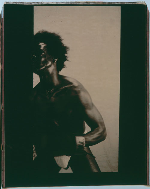 Lyle Ashton Harris. Memoirs of Hadrian #9, 2002. Unique Polaroid, 24 x 20 in. Courtesy the artist and CRG Gallery, New York