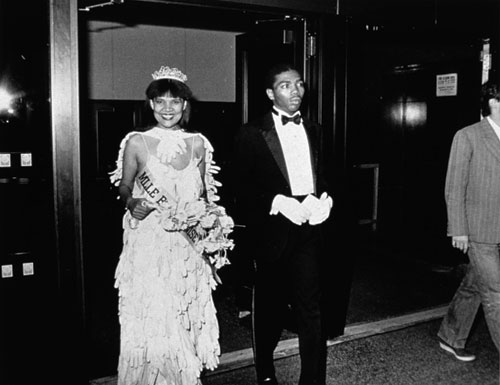 Lorraine O'Grady. Untitled (Mlle. Bourgeoise Noire and her Master of Ceremonies enter the New Museum), 1980–83, printed 2009.