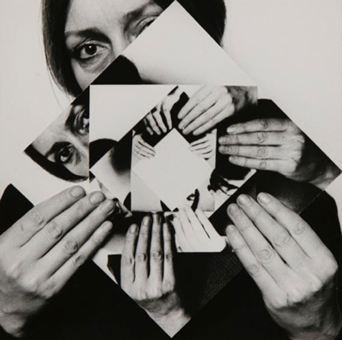 Dóra Maurer. Seven Rotations 1-6, 1979. Six silver gelatin prints, 20 x 20 cm each. Collection of Zsolt Somlói and Katalin Spengler.