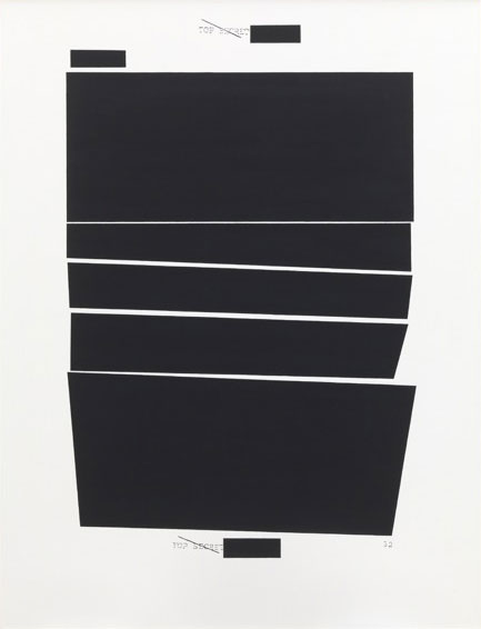 Jenny Holzer. TOP SECRET 32, 2010. Oil on linen, 147.3 x 111.8 x 3.8 cm. Sprüth Magers Berlin London.