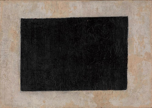 Kazimir Malevich. Black Quadrilateral (no date). Oil on canvas, 17 x 24 cm. Greek State Museum of Contemporary Art - Costakis Collection, Thessaloniki.