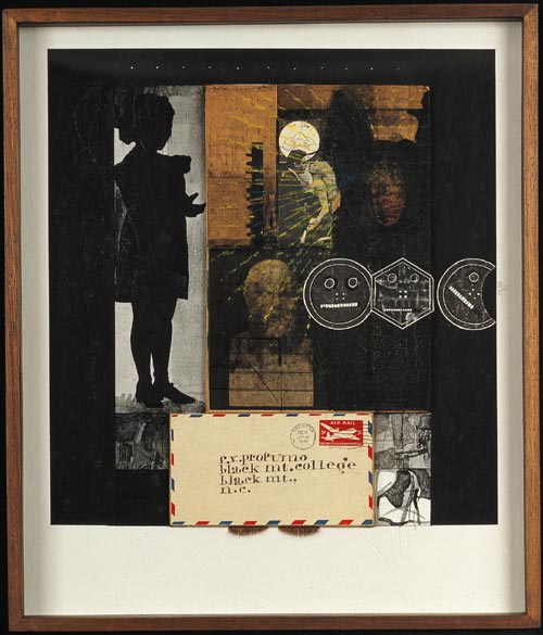 Ray Johnson. <em>Untitled: f.x. Profumo</em> c 1953-59, c 1980. 51.25 x 38.75. Estate of Ray Johnson.
