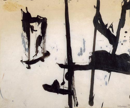 Franz Kline. <em>Untitled </em>1952. Ink on paper, 34.3 x 42.6 cm. Mr and Mrs C Jeffrey Simpson.