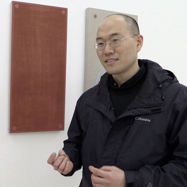Seungjo Jeong talks to Studio International at the opening of Bloomberg New Contemporaries 2016, Institute of Contemporary Arts, London, November 2016. Photograph: Martin Kennedy.