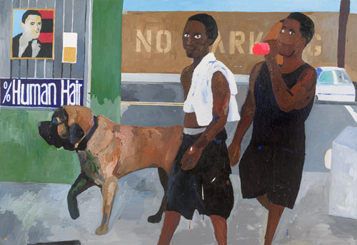 Henry Taylor. Walking with Vito, 2008. Acrylic on canvas, 167.5 x 244 cm. © Henry Taylor, 2008. Image courtesy of the Saatchi Gallery, London.