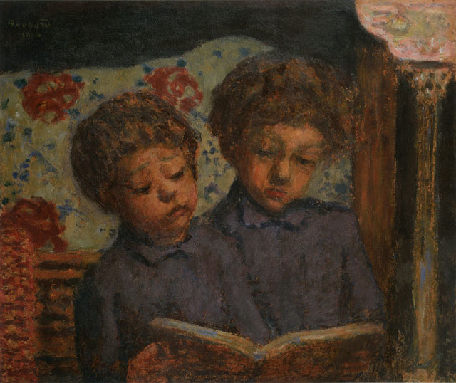 Pierre Bonnard. Enfants solfiant, Charles et Jean Terrasse (Children at the Solfège, Charles and Jean Terrasse), c1900. Oil on cardboard mounted on panel. Musée Bonnard, Le Cannet. Long term loan from a private collection, 2015. © Adagp, Paris 2016. © Michel Bury.
