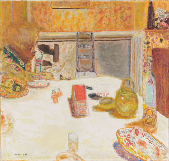 Pierre Bonnard. La Salle à manger au Cannet (The dining room at Le Cannet), 1932. Oil on canvas, 96.5 x 101 cm. Musée Bonnard, Le Cannet. Permanent loan from the Musée d'Orsay Paris. © musée d'Orsay, dist. RMN / P. Schmidt. © Adagp, Paris 2016.