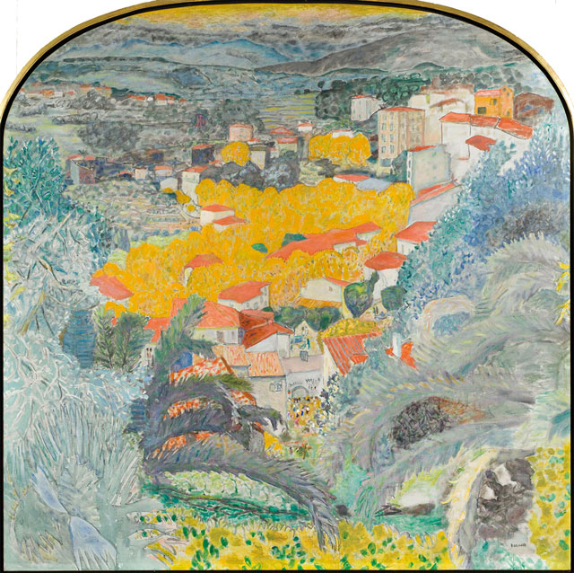 Pierre Bonnard. Vue du Cannet (View of Le Cannet), 1927. Oil on canvas, 233.6 x 233.6 cm. Musée Bonnard, Le Cannet. Gift from the Fondation Meyer pour le développement culturel et artistique, permanent loan from the musée d'Orsay, Paris. © Adagp, Paris 2016. © RMN/ Patrice Schmidt.