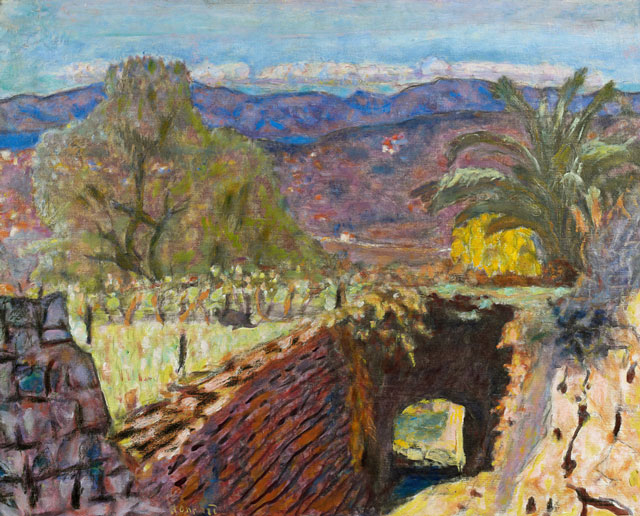 Pierre Bonnard. Paysage du Cannet par temps de Mistral (Landscape with the Mistral Wind), 1922. Oil on canvas, 49 x 62 cm. Acquired with the support of the FRAM. Musée Bonnard, Le Cannet. © Adagp, Paris 2014.