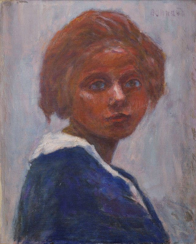 Pierre Bonnard. Portrait de femme (Renée Monchaty) (Portrait of a woman - Renée Montchaty), c1920. Oil on canvas, 67 x 122 cm. Musée Bonnard, Le Cannet. Long term loan from a private collection. © Adagp, Paris 2016. © Michel Bury.