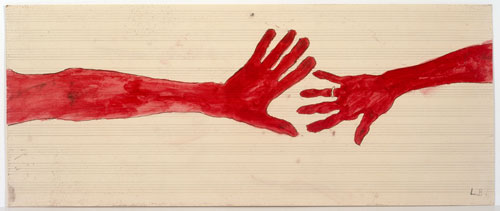 Louise Bourgeois. 10 am Is When You Come To Me, 2006 (detail). Etching, watercolour, pencil, gouache on paper, 20 pages, each approximately 37.1 x 89.5 cm. Photograph: Christopher Burke, © The Easton Foundation/Licensed by DACS.