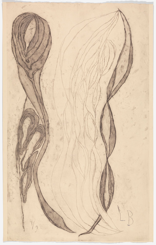 Louise Bourgeois. The Unfolding, 2007. Etching on paper, 151.1 x 95.6 cm (59 ¾ x 37 5/8 in). © The Easton Foundation/VAGA, New York/DACS, London 2016. Courtesy Hauser & Wirth.