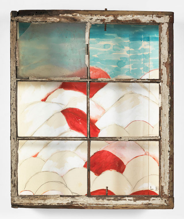 Louise Bourgeois. My Blue Sky, 1989–2003. Gouache, watercolour, ink, pencil, coloured pencil and paper mounted into a wood and glass window frame, 71.1 x 58.4 x 15.9 cm (28 x 23 x 6 1/4 in). © The Easton Foundation/VAGA, New York/DACS, London 2016. Courtesy Hauser & Wirth.