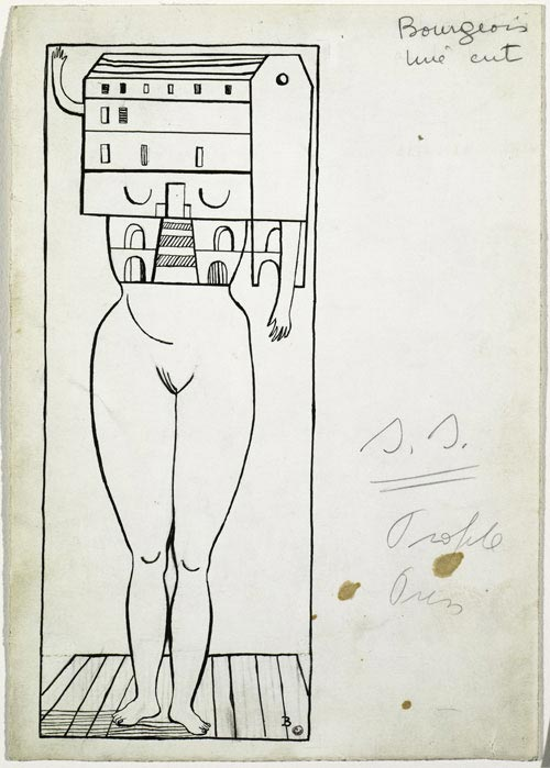 Louise Bourgeois. <em>Femme Maison</em>, 1947. Ink and pencil on paper 25.2 x 18 cm. Solomon R. Guggenheim Museum, New York. © Louise Bourgeois