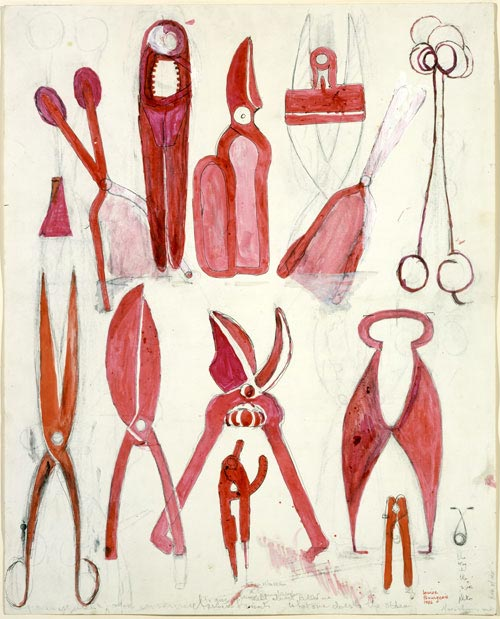 Louise Bourgeois. <em>Untitled</em>, 1986. Watercolor, ink, oil, charcoal and pencil on paper 60.3 x 48.2 cm. Courtesy Cheim & Read, Galerie Karsten Greve and Hauser & Wirth. Photo: Christopher Burke. © Louise Bourgeois