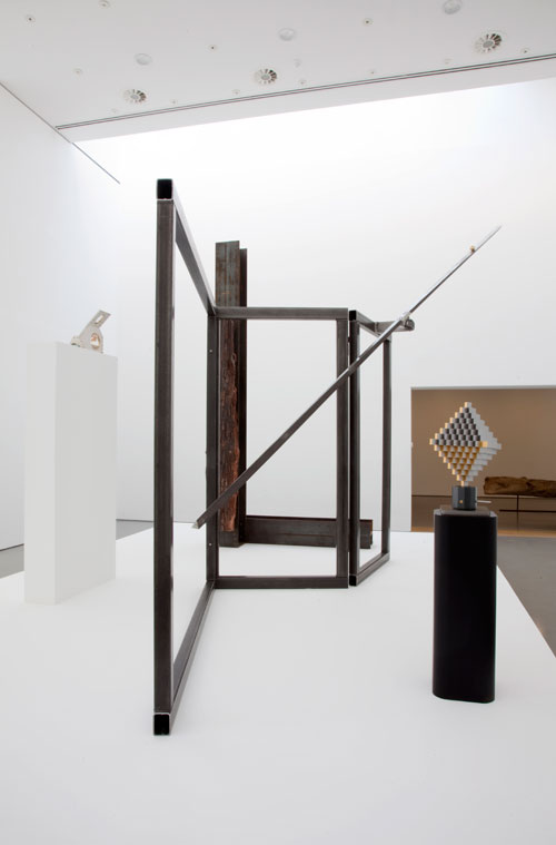 Installation view of Gallery 2 (2). Carol Bove works courtesy of the Artist and Maccarone, New York and David Zwirner, New York/London. Carlo Scarpa works courtesy Museo delle Rarità Carlo Scarpa - Castello di Monselice. Photograph: Jerry Hardman-Jones.