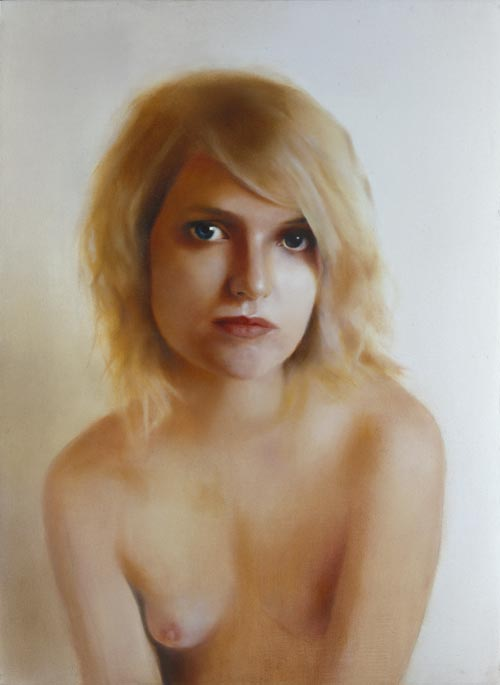 Third prize winner: Johan Andersson for <em>Tamara</em>. Oil on canvas, 100 x 73.4 cm.
