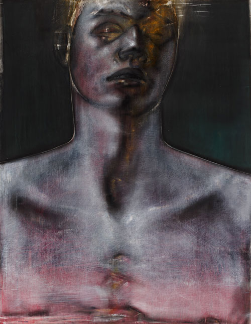 Godwin Bradbeer. Baptism. Chinagraph, charcoal, pastel dust on paper, 167 x 128 cm.