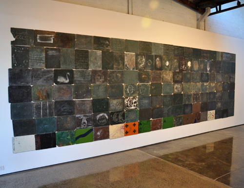 Godwin Bradbeer. Tabula Rasa. Mixed media - installation view.