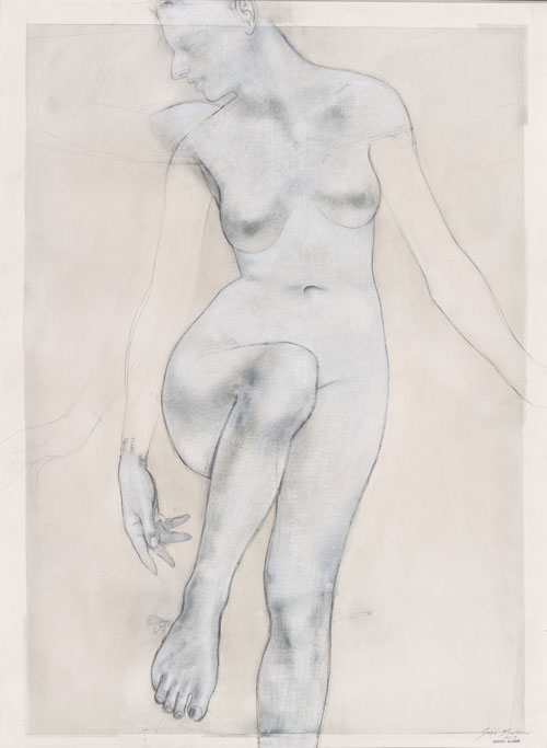 Godwin Bradbeer. White Woman. Drawing - Chinagraph, pastel dusk silver oxide on paper, 144 x 104 cm.
