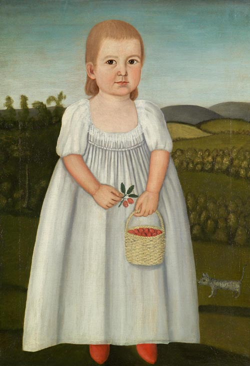 John Brewster Jr. (1766-1854). <em>Betsey Avery Brewster</em>. Painted in Hampton, Connecticut, ca.1800. Oil on canvas 30 3/4 x 22 in. Collection of G.W. Samaha and Madeline Fisher. Photo credit: David Stansbury.