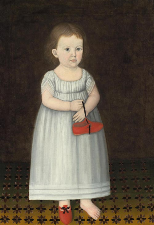 John Brewster Jr. (1766-1854). <em>One Shoe Off</em>. Possibly painted in Connecticut; 1807. Oil on canvas 34 7/8 x 24 7/8 in. Collection of Fenimore Art Museum, Cooperstown, New York. Gift of Stephen C. Clark. Photo credit: David Stansbury.