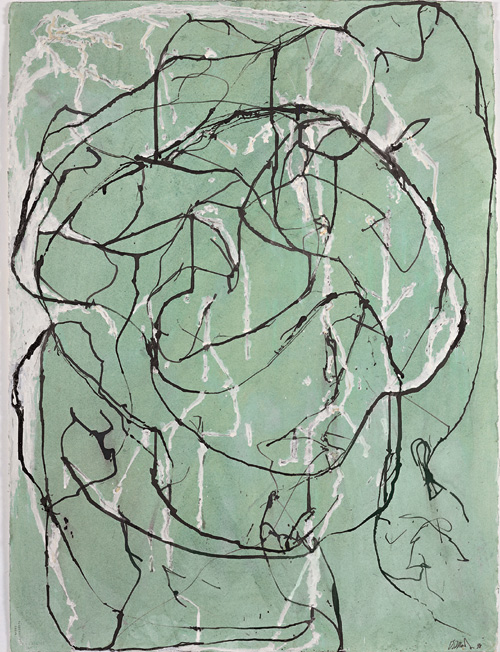 Brice Marden. <em>Post Calligraphic Drawing</em>, 1998; Private Collection, New York; © 2006 Brice Marden/Artists Rights Society (ARS), New York.