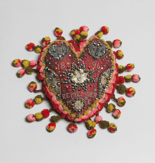 Artist unknown. Heart pincushion. Beamish, The Living Museum of the North. Photograph: Tate Photography.