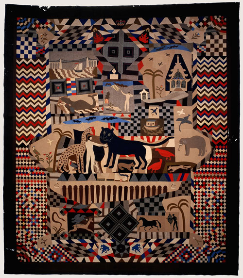 Patchwork bedcover made by James Williams, Wrexham 1842-52. St Fagans: National History Museum.