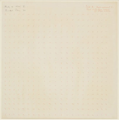 Bridget Riley. Study for static II, 1966. Pen on paper, heightened with gouache, 52 x 32 cm.