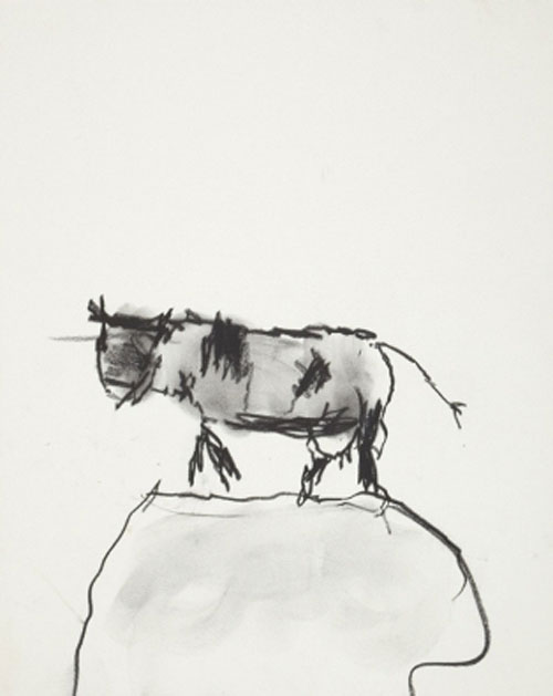 Roger Hilton. Cow, c1964. Pastel on paper