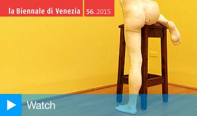 Sarah Lucas: I SCREAM DADDIO at the British Pavilion, Giardini di Castello, Venice, 2015.