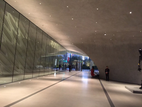 The Broad museum's lobby. Photograph: Iwan Baan, courtesy of The Broad and Diller Scofidio + Renfro.
