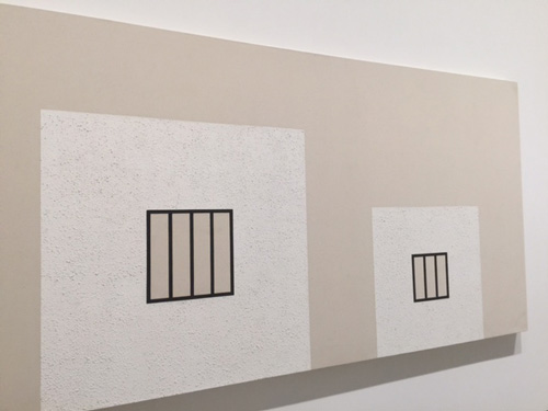 Peter Halley. Freudian Painting, 1981. Acrylic and Roll-A-Tex on unprimed canvas. Photograph: Jill Spalding.