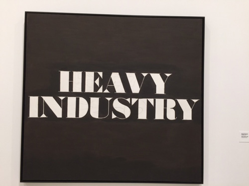 Edward Ruscha. Heavy Industry, 1962. Oil and pencil on canvas. Photograph: Jill Spalding.