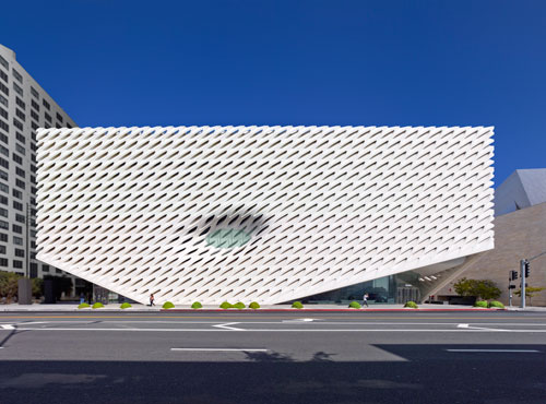 The Broad museum on Grand Avenue in downtown Los Angeles. Photograph: Benny Chan, courtesy of The Broad and DIller Scofidio + Renfro.