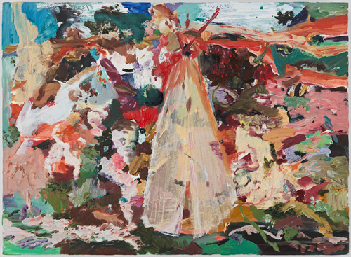 Cecily Brown. Princess Minniehaha, 2005. Oil on linen, 12.5 x 17 in.