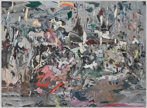 Cecily Brown. Rainy Day Women, 2007. Oil on linen, 12.5 x 17 in.