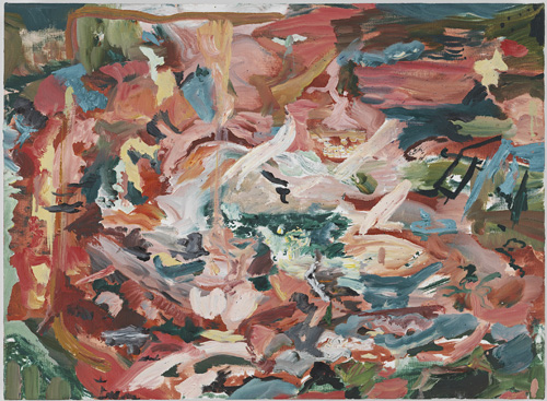 Cecily Brown. Oh I do like to be beside the seaside, 2014. Oil on linen, 12.5 x 17 in.