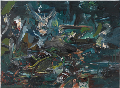 Cecily Brown. All Souls' Eve, 2014. Oil on linen, 12.5 x 17 in.